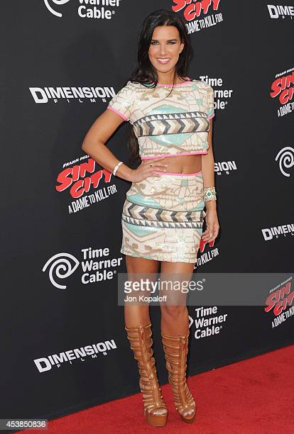 Actress Natalie Burn arrives at the Los Angeles Premiere 'Sin City A Dame To Kill For' at TCL Chinese Theatre on August 19 2014 in Hollywood...