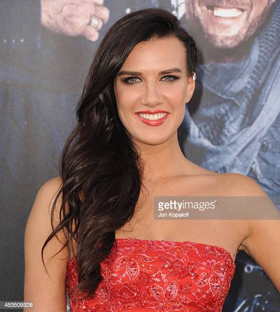 Actress Natalie Burn arrives at the Los Angeles Premiere 'The Expendables 3' at TCL Chinese Theatre on August 11 2014 in Hollywood California