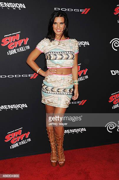 Actress Natalie Burn arrives at the 'Sin City A Dame To Kill For' Los Angeles Premiere at TCL Chinese Theatre on August 19 2014 in Hollywood...
