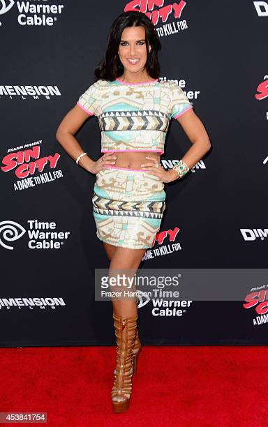 Actress Natalie Burn attends Premiere of Dimension Films' Sin City A Dame To Kill For at TCL Chinese Theatre on August 19 2014 in Hollywood California
