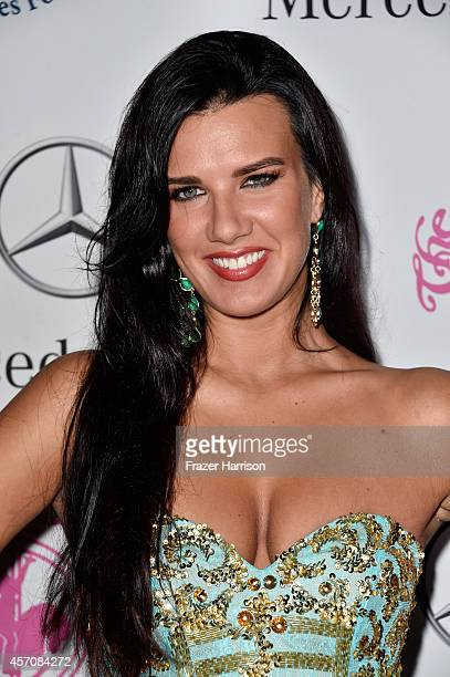 Actress Natalie Burn attends the 2014 Carousel of Hope Ball presented by MercedesBenz at The Beverly Hilton Hotel on October 11 2014 in Beverly Hills...