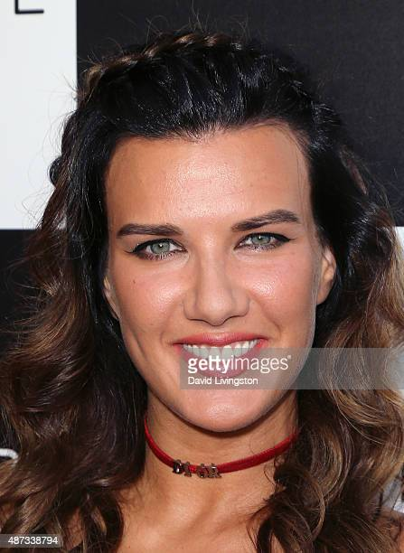 Actress Natalie Burn attends the premiere of Bleecker Street Media's 'Pawn Sacrifice' at Harmony Gold Theatre on September 8 2015 in Los Angeles...