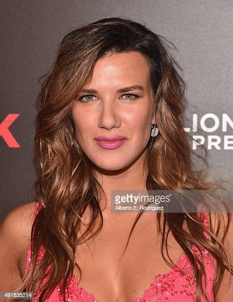 Actress Natalie Burn attends the premiere of Lionsgate's 'Knock Knock' at TCL Chinese 6 Theatres on October 7 2015 in Hollywood California