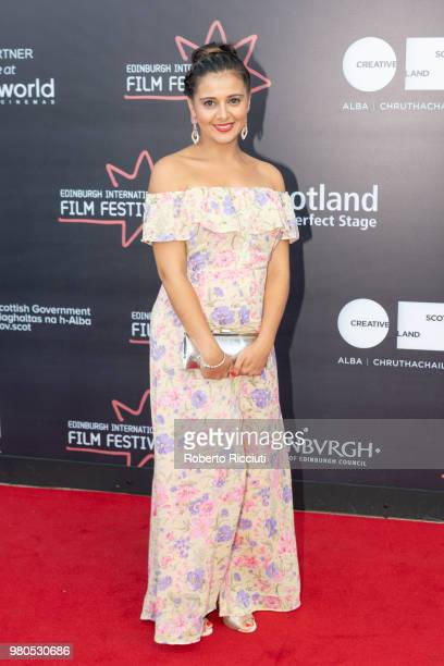 Actress Natalie Davies attends a photocall for the World Premiere of 'Eaten by Lions' during the 72nd Edinburgh International Film Festival at...