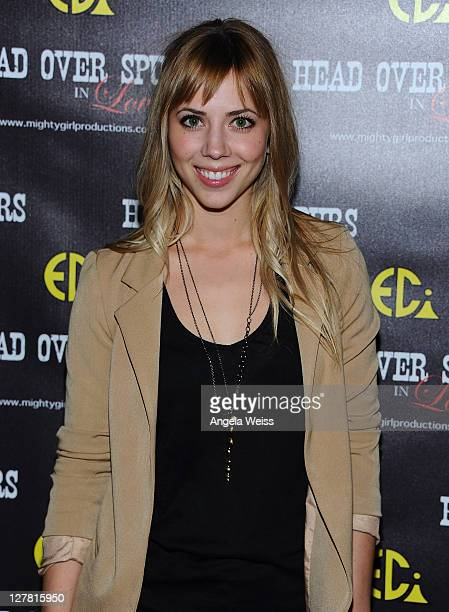 Actress Natalie Distler arrives at the world premiere of 'Head Over Spurs In Love' at Majestic Crest Theatre on March 24, 2011 in Los Angeles,...