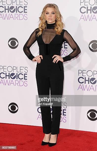 Actress Natalie Dormer arrives at People's Choice Awards 2016 at Microsoft Theater on January 6 2016 in Los Angeles California