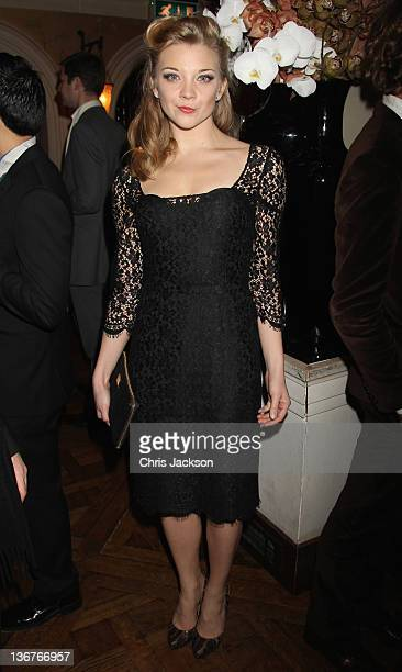 Actress Natalie Dormer arrives at the afterparty for the UK premiere of WE at Belvedere Restaurant on January 11 2012 in London England The film will...