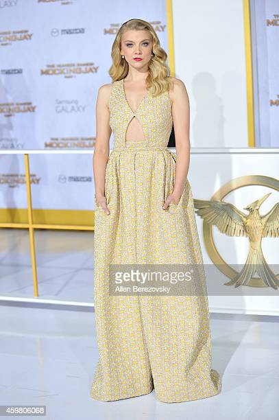 """Actress Natalie Dormer arrives at the Los Angeles premiere of """"The Hunger Games: Mockingjay - Part 1"""" at Nokia Theatre L.A. Live on November 17, 2014..."""