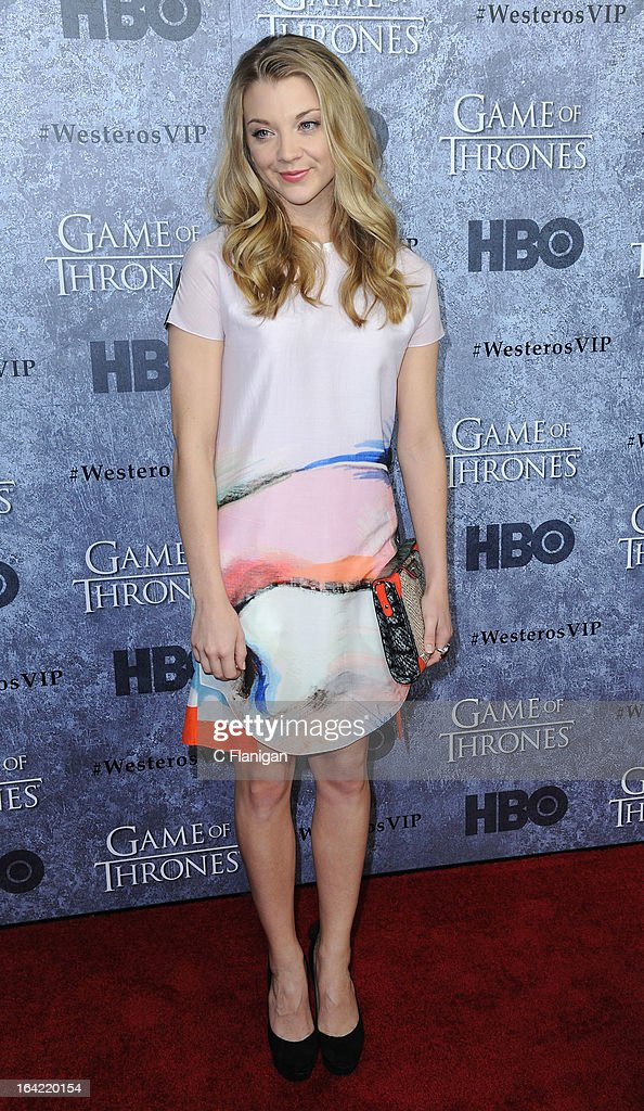 Actress Natalie Dormer arrives at the San Francisco Premiere For HBO's 'Game Of Thrones' Season 3 at Palace Of Fine Arts Theater on March 20, 2013 in San Francisco, California.
