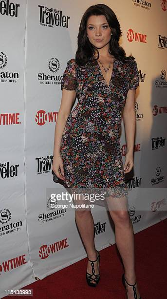Actress Natalie Dormer arrives for the World Premiere party for season 2 of the Showtime original series 'The Tudors' at the Sheraton New York Hotel...