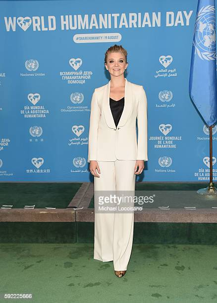 Actress Natalie Dormer attends 2016 World Humanitarian Day One Humanity Event at the United Nations on August 19 2016 in New York City
