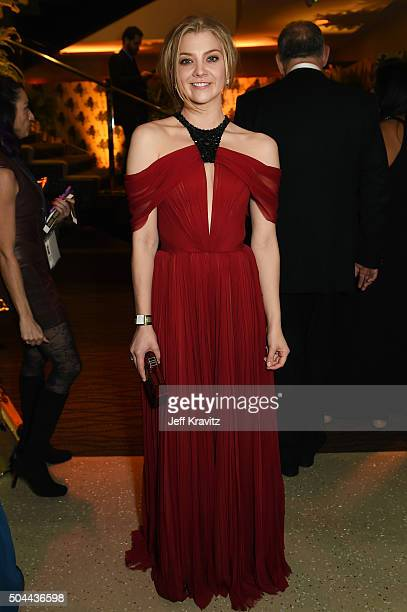 Actress Natalie Dormer attends HBO's Official Golden Globe Awards After Party at The Beverly Hilton Hotel on January 10 2016 in Beverly Hills...