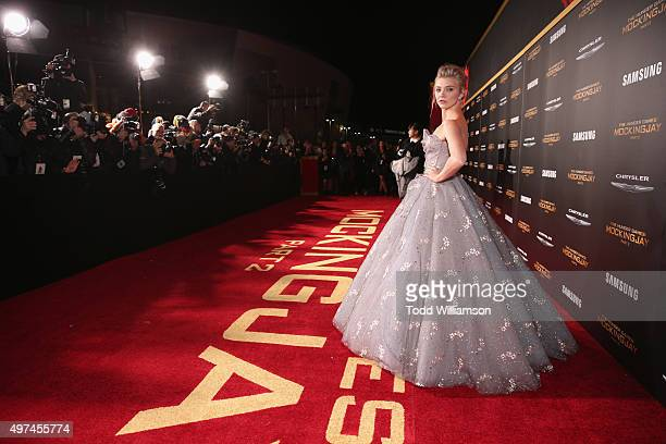Actress Natalie Dormer attends premiere of Lionsgate's 'The Hunger Games Mockingjay Part 2' at Microsoft Theater on November 16 2015 in Los Angeles...
