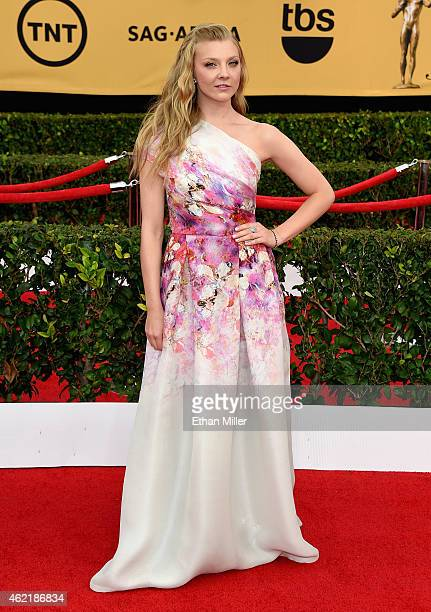 Actress Natalie Dormer attends the 21st Annual Screen Actors Guild Awards at The Shrine Auditorium on January 25 2015 in Los Angeles California