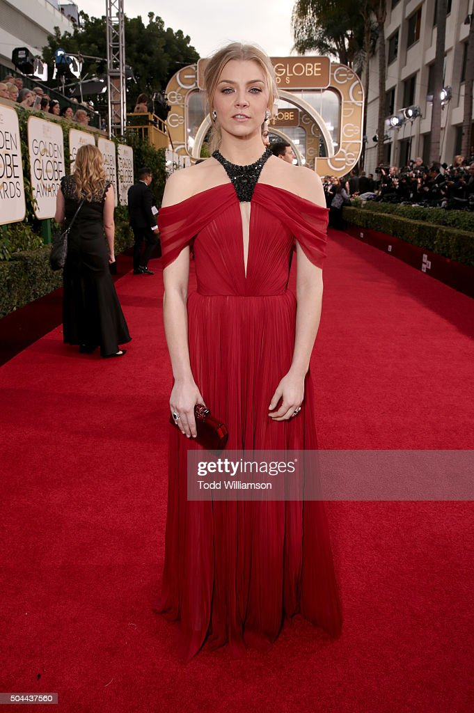 Actress Natalie Dormer attends the 73rd Annual Golden Globe Awards at The Beverly Hilton Hotel on January 10, 2016 in Beverly Hills, California.