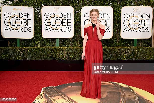 Actress Natalie Dormer attends the 73rd Annual Golden Globe Awards held at the Beverly Hilton Hotel on January 10 2016 in Beverly Hills California