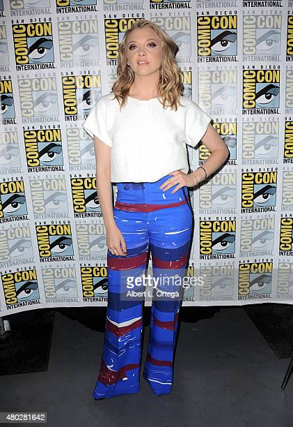 Actress Natalie Dormer attends the 'Game of Thrones' panel during ComicCon International 2015 at the San Diego Convention Center on July 10 2015 in...