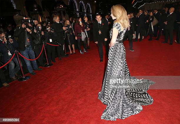Actress Natalie Dormer attends The Hunger Games Mockingjay Part 2 UK Premiere at the Odeon Leicester Square on November 5 2015 in London England