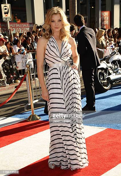 Actress Natalie Dormer attends the premiere of Captain America The First Avenger at the El Capitan Theatre on July 19 2011 in Hollywood California