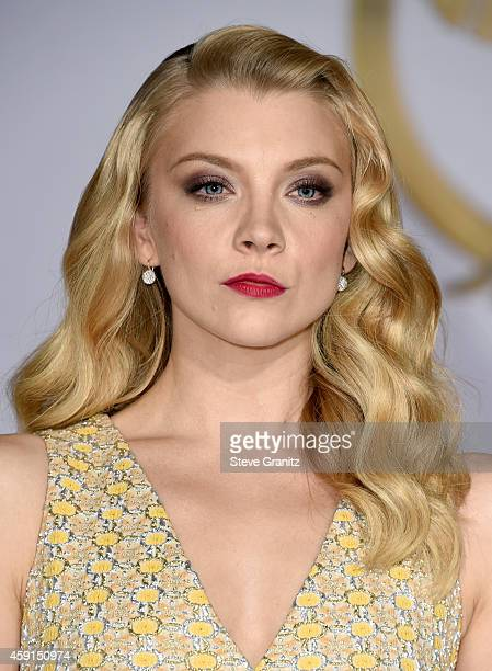"""Actress Natalie Dormer attends the premiere of """"The Hunger Games: Mockingjay - Part 1"""" at Nokia Theatre L.A. Live on November 17, 2014 in Los..."""