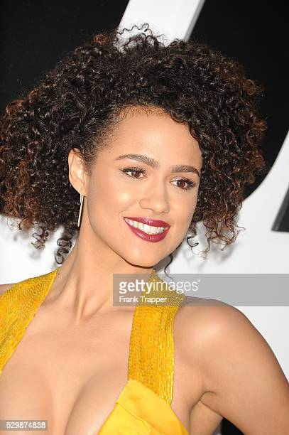 Actress Natalie Emmanuel arrives at the premiere of Furious 7 held at the TCL Chinese Theater in Hollywood