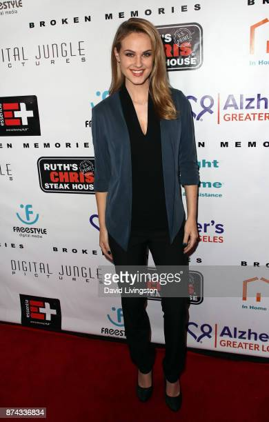 Actress Natalie Fabry attends a benefit screening of Digital Jungle Pictures' 'Broken Memories' at the Writers Guild Theater on November 14 2017 in...
