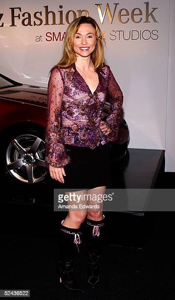Actress Natalie Gray is seen around Smashbox during MercedesBenz Fashion Week at Smashbox Studios March 16 2005 in Culver City California
