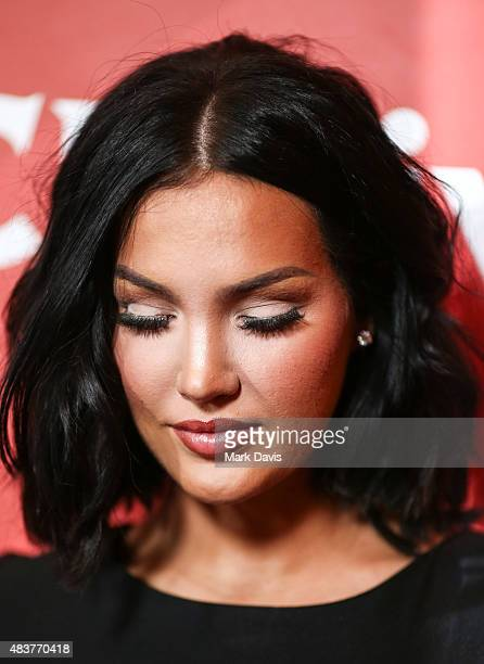 Actress Natalie Halcro arrives at the NBCUniversal 2015 Summer Press Tour at the Beverly Hilton on August 12 2015 in Beverly Hills California