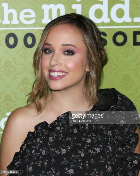 Actress Natalie Lander attends ABC's The Middle 200th episodes celebration at the Fig Olive on October 28 2017 in West Hollywood California