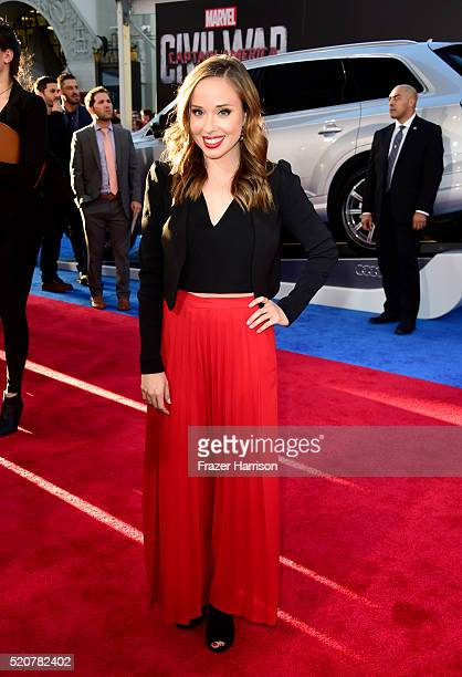 Actress Natalie Lander attends the premiere of Marvel's Captain America Civil War at Dolby Theatre on April 12 2016 in Los Angeles California