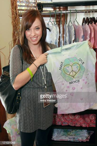 Actress Natalie Lander visits The Green Lodge on January 18 2009 in Park City Utah