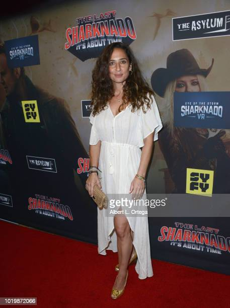Actress Natalie Lymor arrives for the Premiere Of The Asylum And Syfy's 'The Last Sharknado It's About Time' held at Cinemark Playa Vista on August...