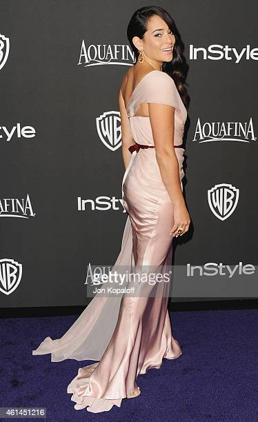 Actress Natalie Martinez arrives at the 16th Annual Warner Bros And InStyle PostGolden Globe Party at The Beverly Hilton Hotel on January 11 2015 in...