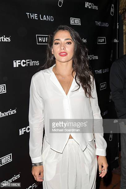 Actress Natalie Martinez arrives at the premiere of IFC Films' The Land at The Theatre at Ace Hotel on July 28 2016 in Los Angeles California