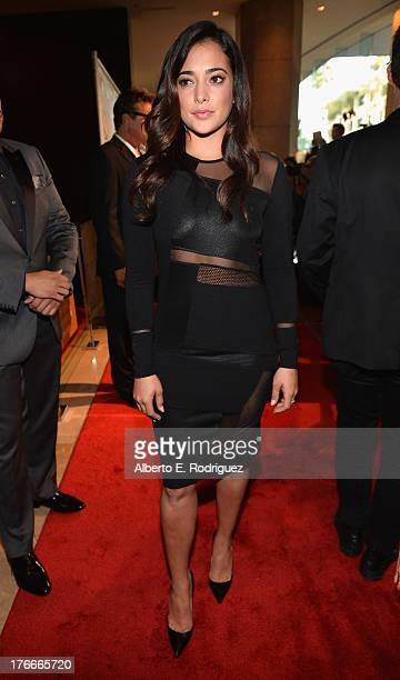 Actress Natalie Martinez arrives to the 28th Annual Imagen Awards at The Beverly Hilton Hotel on August 16 2013 in Beverly Hills California
