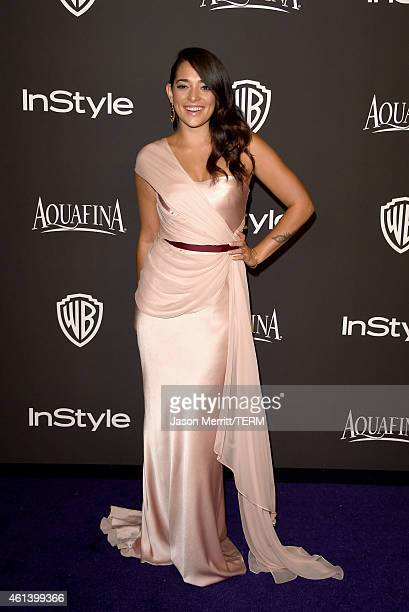 Actress Natalie Martinez attends the 2015 InStyle And Warner Bros 72nd Annual Golden Globe Awards PostParty at The Beverly Hilton Hotel on January 11...