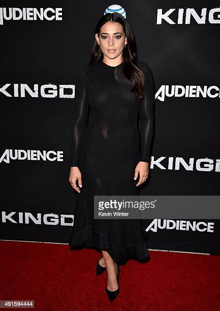 Actress Natalie Martinez attends the premiere of DIRECTV's Kingdom Season 2 at SilverScreen Theater at the Pacific Design Center on October 6 2015 in...