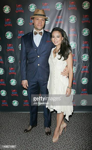 Actress Natalie Mendoza and guest attend the Red Hook Summer premiere at the DGA Theater on August 6 2012 in New York City