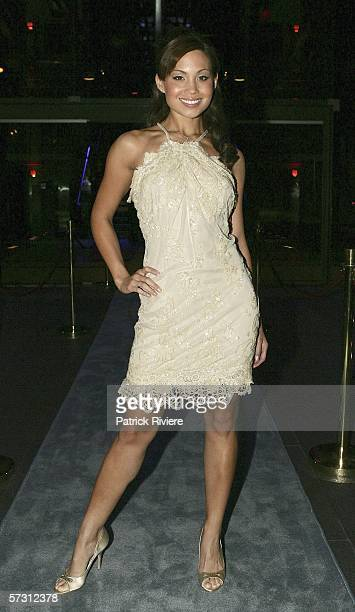 Actress Natalie Mendoza attends the NW Magazine party for the launch of the Channel 9 TV show Hotel Babylon at the Blue Hotel on April 11 2006 in...