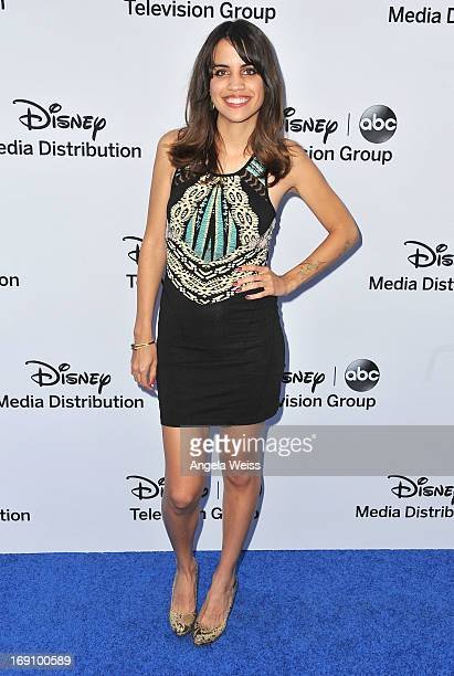 Actress Natalie Morales arrives at the Disney Media Networks International Upfronts at Walt Disney Studios on May 19 2013 in Burbank California