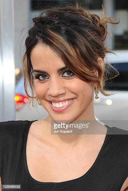 Actress Natalie Morales arrives at the Los Angeles Premiere Going The Distance>> on August 23 2010 in Los Angeles California