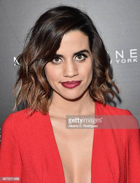Actress Natalie Morales attends Entertainment Weekly's celebration honoring THe Screen Actors Guild presented by Maybeline at Chateau Marmont on...