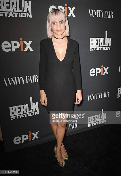 Actress Natalie Morales attends EPIX Berlin Station LA premiere at Milk Studios on September 29 2016 in Los Angeles California