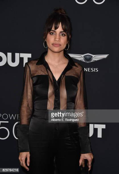 Actress Natalie Morales attends OUT Magazine's Inaugural Power 50 Gala Awards Presentation at Goya Studios on August 10 2017 in Los Angeles California