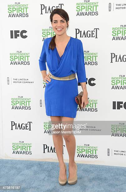Actress Natalie Morales attends the 2014 Film Independent Spirit Awards at Santa Monica Beach on March 1 2014 in Santa Monica California