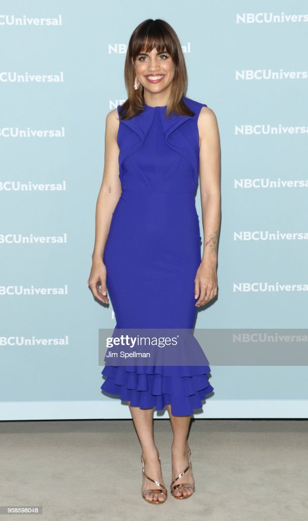 Actress Natalie Morales attends the 2018 NBCUniversal Upfront presentation at Rockefeller Center on May 14, 2018 in New York City.