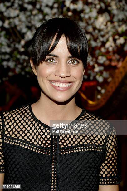 Actress Natalie Morales attends the alice olivia by Stacey Bendet and Neiman Marcus present SeeNowBuyNow Runway Show at NeueHouse Los Angeles on...