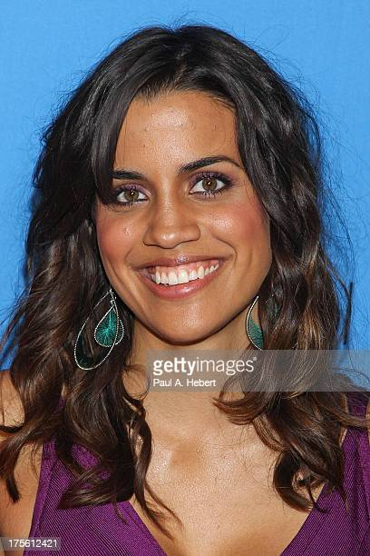 Actress Natalie Morales attends the Disney ABC Television Group's 2013 Summer TCA Tour at The Beverly Hilton Hotel on August 4 2013 in Beverly Hills...