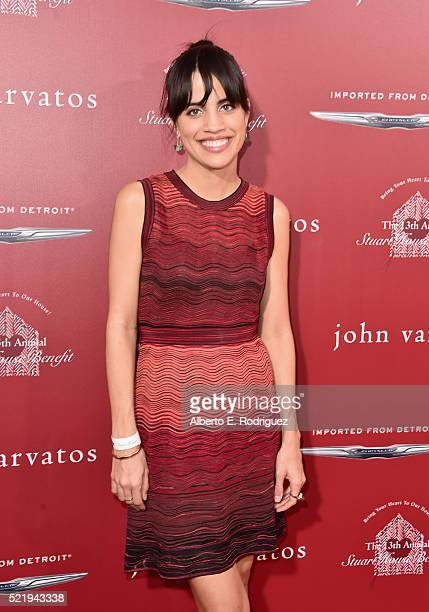 Actress Natalie Morales attends the John Varvatos 13th Annual Stuart House benefit presented by Chrysler with Kids' Tent by Hasbro Studios at John...
