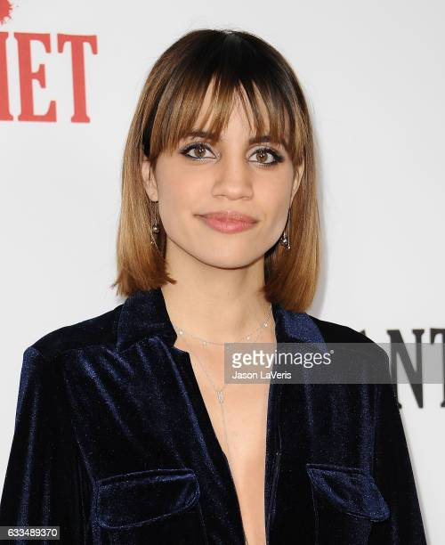 Actress Natalie Morales attends the premiere of Santa Clarita Diet at ArcLight Cinemas Cinerama Dome on February 1 2017 in Hollywood California
